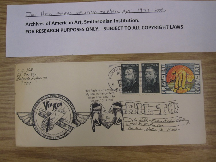 Researching mail art at the Archives of American Art