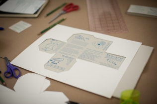 Self Preservation, hand letter pressed book, unassembled (2013)